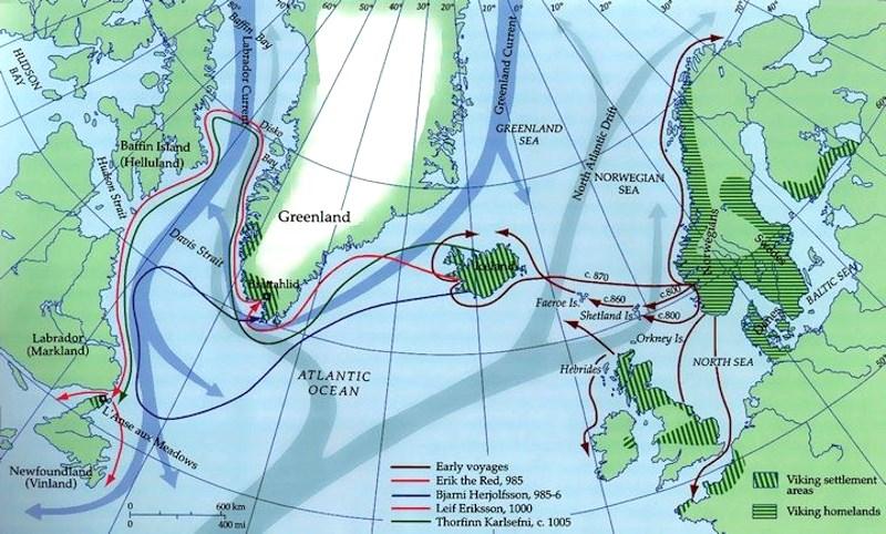 Ekspansja Wikingów: Wyspy Brytyjskie, Islandia, Grenlandia, Ameryka Północna