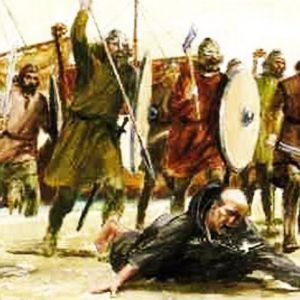 Atak wikingów na klasztor Lindisfarne